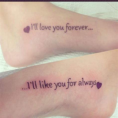 love you forever tattoo mine and my s quot i ll you forever quot quot i