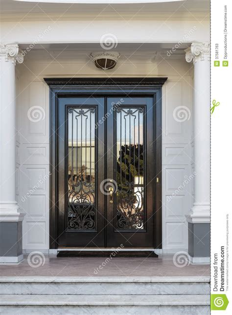 glass front doors images closed glossy black and glass front doors of an upscale