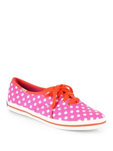 polka dot sneakers kate spade kick polka dot canvas sneakers in orange pink
