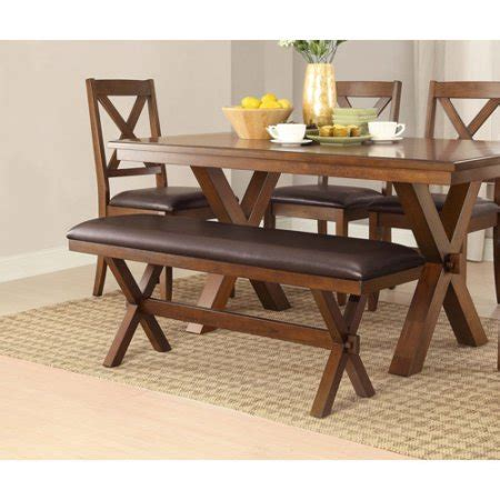 walmart dining bench better homes and gardens maddox crossing dining bench