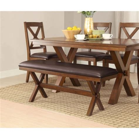 Dining Room Bench Walmart Better Homes And Gardens Maddox Crossing Dining Bench