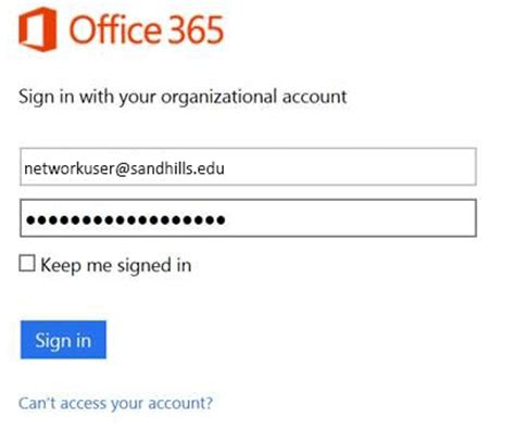Office Outlook Web Access Sign In by Office Email Access On The Web Sandhills Community