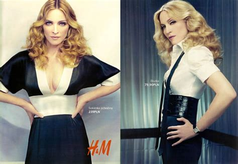 Madonnas Hm Collection Disappoints by Advertising Times H M Et Le Masstige Les Collaborations