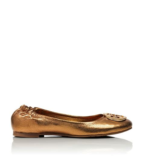 Trend Report Burch Reva Flats Are Going To Be This Second City Style Fashion by Burch Metallic Reva Ballet Flat In Gold Metal New