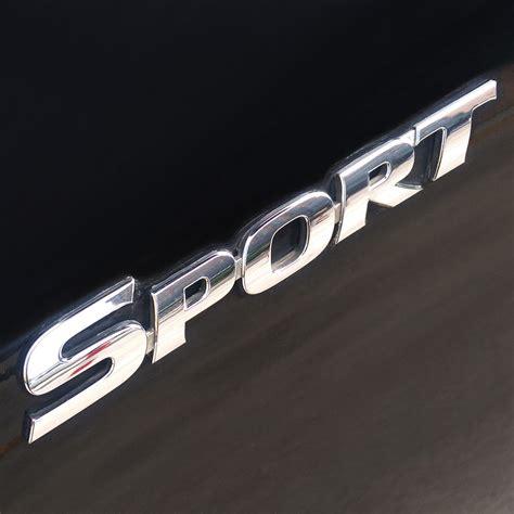 Emblem Sport Merah Crome car styling 3d abs chrome logo car sticker sport emblem badge door decal auto accessories for