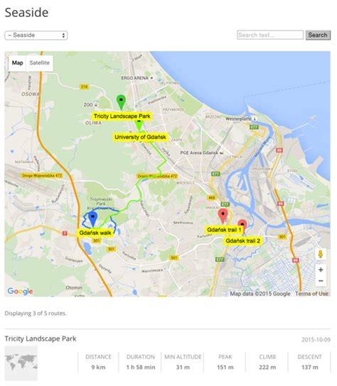 route manager excellent google map routes and trails manager wordpress