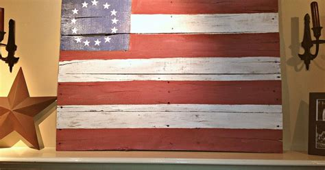 Home Decor Greensboro Nc A Pallet Wood Flag Tutorial In Honor Of July 4th Hometalk