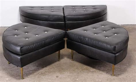 extra large ottomans extra large sectional circular ottoman by dunbar at 1stdibs