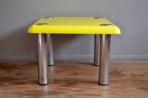 Yellow Bistro Table Vintage Yellow Bistro Coffee Table By Joe Colombo For Zanotta For Sale At Pamono