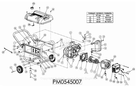 parts of a diagram powermate formerly coleman pm0545007 parts diagram for