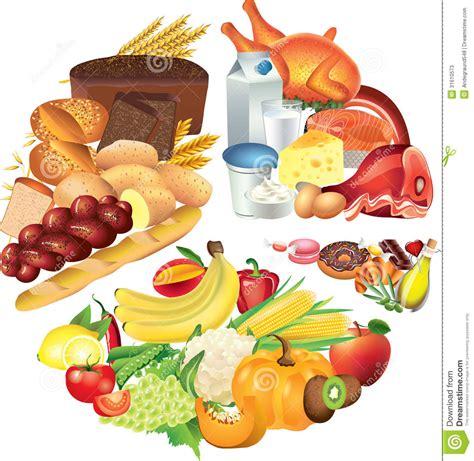 illustration cuisine food pie chart illustration stock illustration