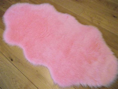 pink fluffy rug new baby pink fluffy bedroom rugs washable mats ebay