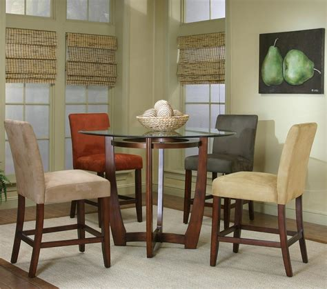 moriann round dining room counter table wood dar target round counter height dining table with micro suede chair