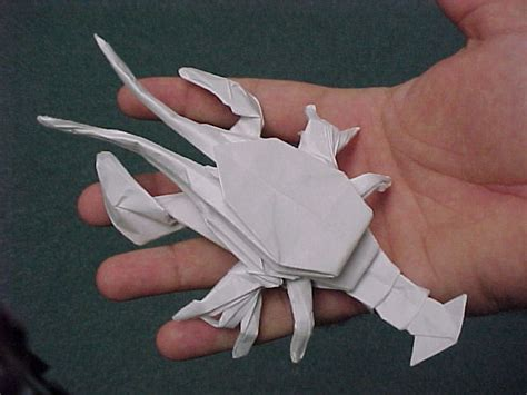 origami lobster by bakaohki on deviantart