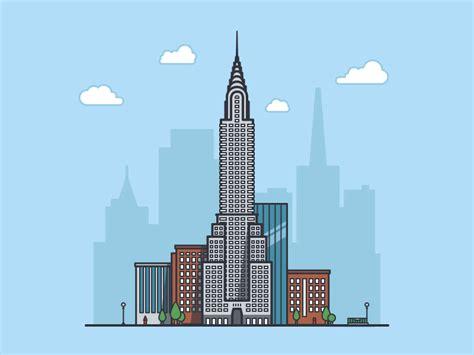2d building chrysler building new york usa by artem borodynya dribbble