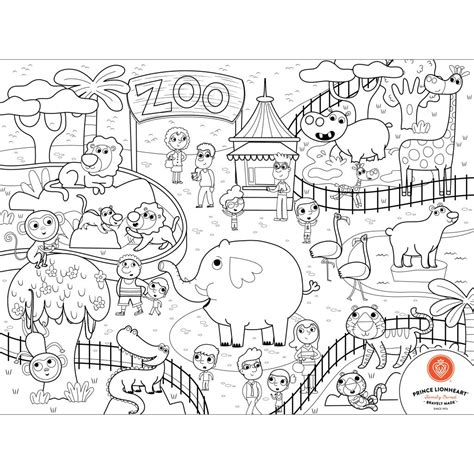 Drawing Zoo by Prince Lionheart Silikonowa Mata Do Kolorowania Zoo Kidy