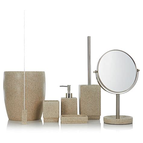 asda bathroom accessories george home accessories sandstone bathroom