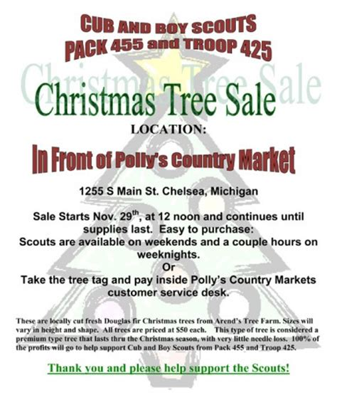 christmas trees for sales flyers chelsea update chelsea michigan news