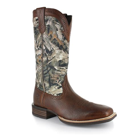 ariat camo boots ariat men s quickdraw camouflage brown distressed square