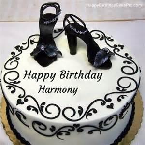 Fashion happy birthday cake for harmony