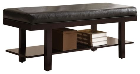 48 inch storage bench monarch specialties 48 inch upholstered bench in brown