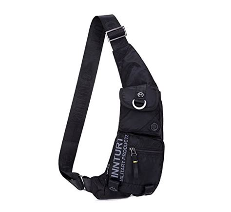 Sling Bag Pouch Waterproof Miniso kawei sling bag chest bag backpack black