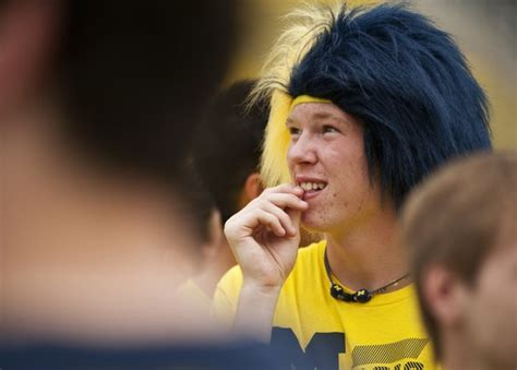 student haircuts ann arbor fans pack michigan stadium for go blue in the big house