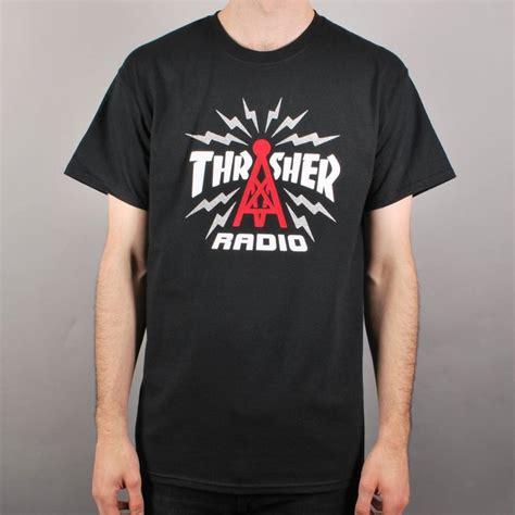Kaos Thrasher Tshirt Thrasher Tees Thrasher Thrasher 23 thrasher thrasher radio skate t shirt black thrasher from skate store uk