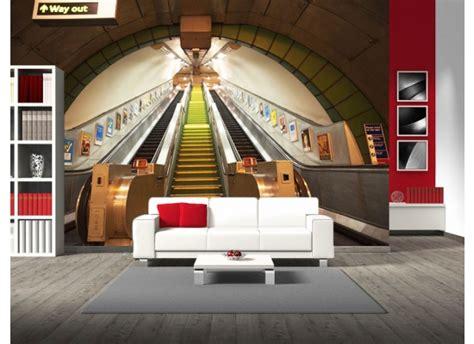 wandbild u bahn rolltreppe fototapete 4 teile - Wohnzimmer U Bahn