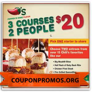 How can you save money with printable chilis coupons 10