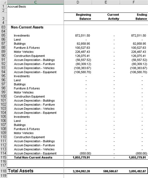 gl financial statement  prefixes event  software