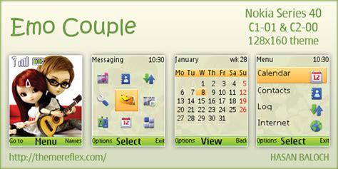 themes nokia c3 emo emo couple theme for nokia c1 01 c2 00 themereflex