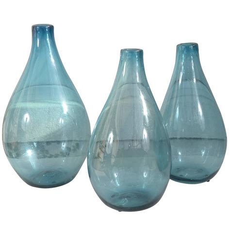 Blue Decorative Vases Vintage Decorative Blue Glass Vases For Sale At 1stdibs