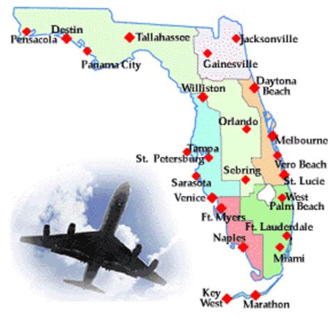 map of florida airports florida airports airlines travel links