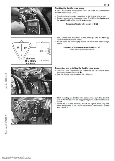 2005 2010 ktm 250sx f motorcycle engine repair manual paper