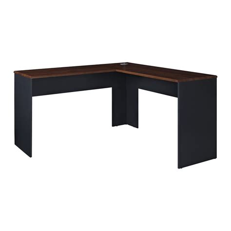 Cherry L Shaped Desk by Shop Ameriwood Home The Works Transitional Cherry L Shaped Desk At Lowes