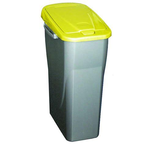 poubelle de tri cuisine poubelle de tri s 233 lectif 25 litres gris m 233 tal avec