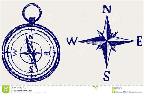 latitude doodle compass sketch stock photo image 26513790