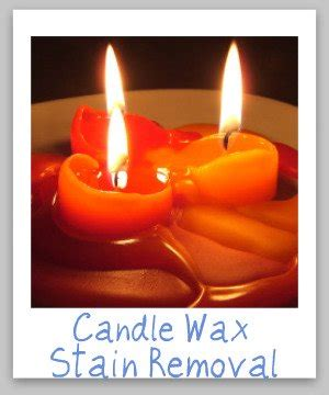 candle wax stain removal guide