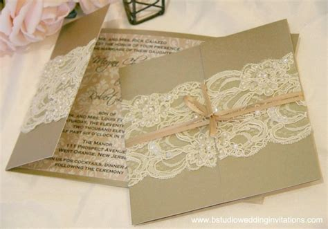 Handmade Lace Wedding Invitations - ivory b studio wedding invitations style