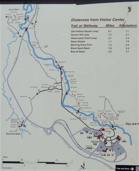 yellowstone geysers map geyser basin map picture of geyser basin