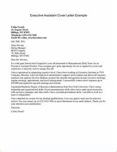 Assistant Cover Letter Exles by 12 Cover Letter For Executive Resume Basic Appication Letter