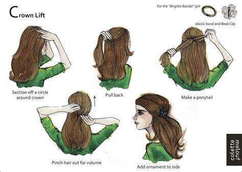how to get a lifted crown hairdo crown lift plus 9 other illustrated styles show me a