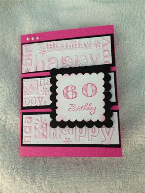 Handmade 60th Birthday Card Ideas - 60th birthday card cards