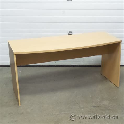 bow front 60 in desk shell meeting table
