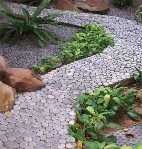 backyard pebbles 32 amazing pebble garden paths digsdigs