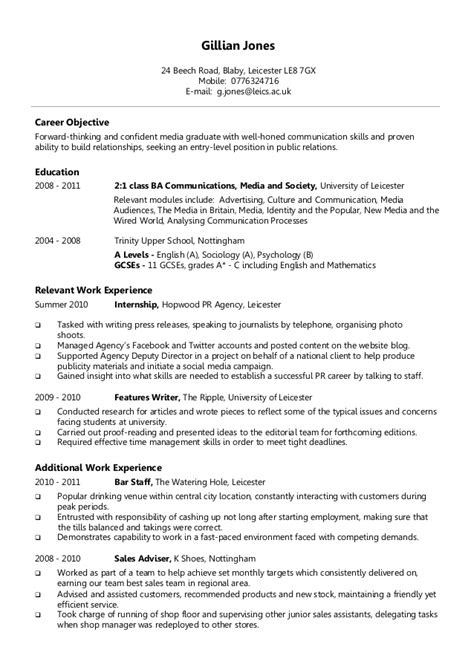 example chronological cv