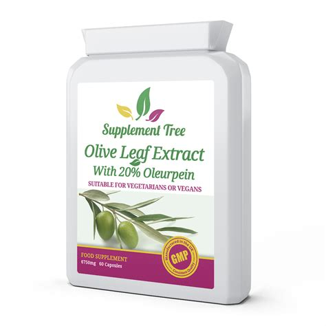 Olive Leaf Detox For Dogs by Olive Leaf Extract 6750mg 60 Capsules Supplement Tree