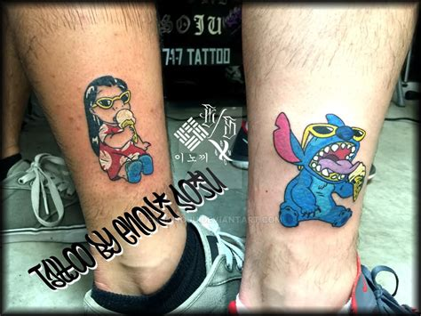 lilo and stitch tattoo cool stitch on foot