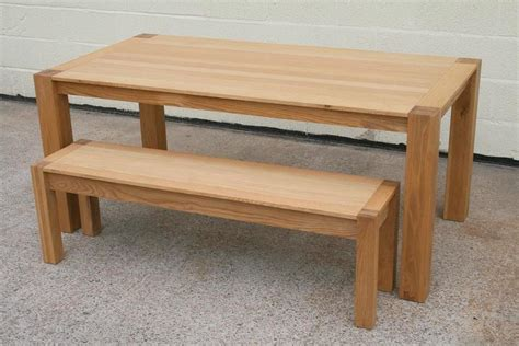 bench and table set solid oak bench oak dining and kitchen oak benches
